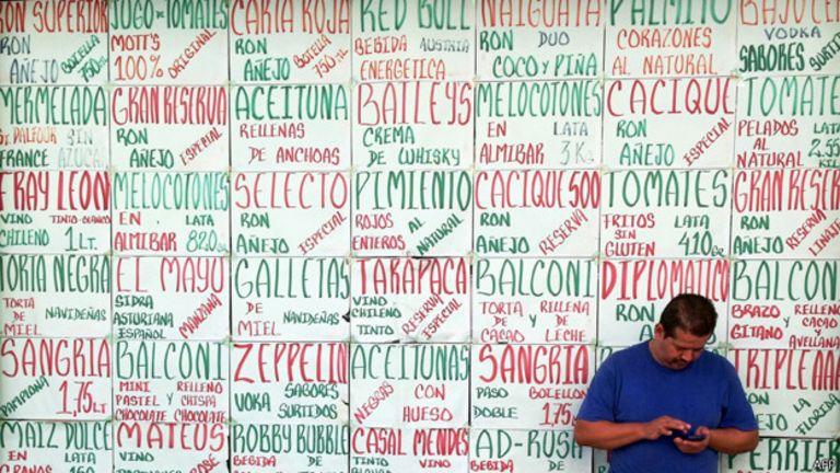 Venezolano ante los precios