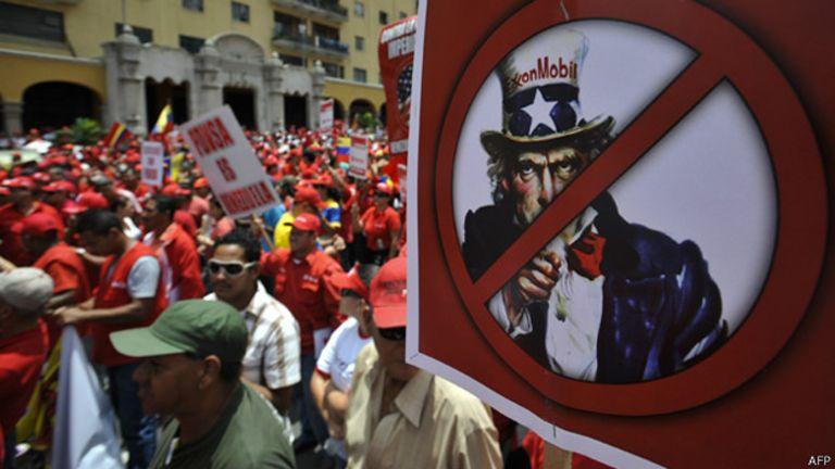 Protesta contra EEUU en Venezuela