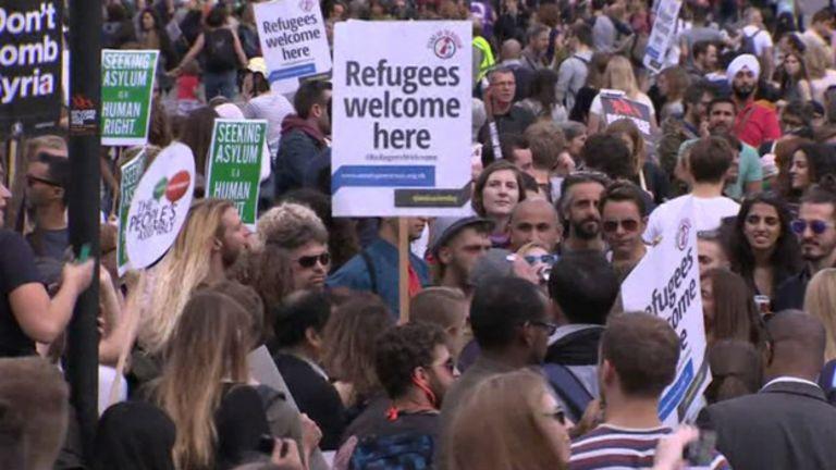 Refugiados, migrantes
