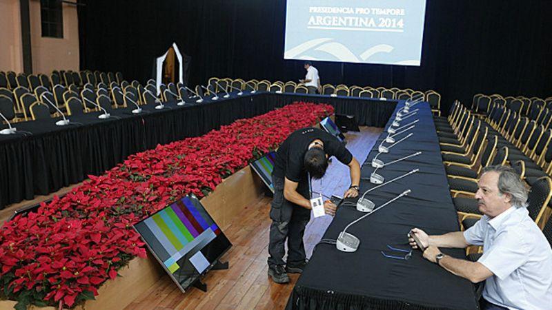 Preparativos para  reunião em Paraná (Reuters)_