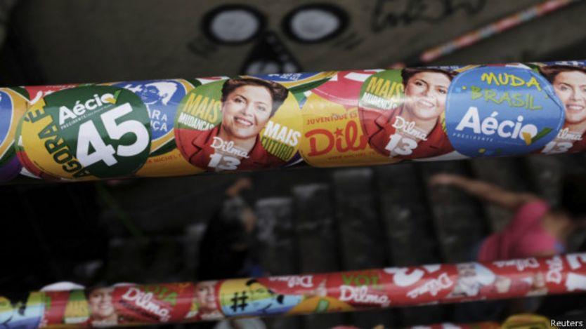 Campanha de Dilma e Aécio / Crédito: Reuters