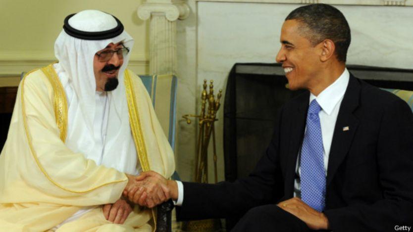 Rey Abdalá  y Obama