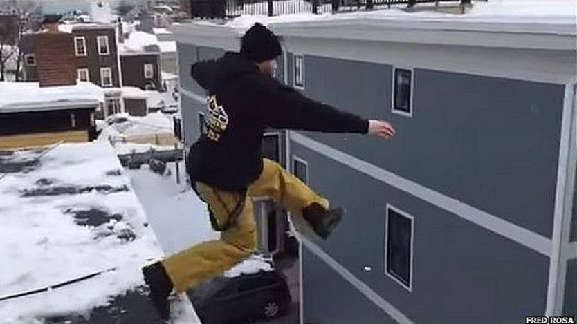 Hombre saltando
