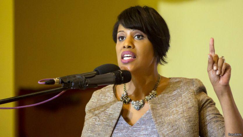 baltimore, alcaldesa, Stephanie Rawling-Blake, eddie gray