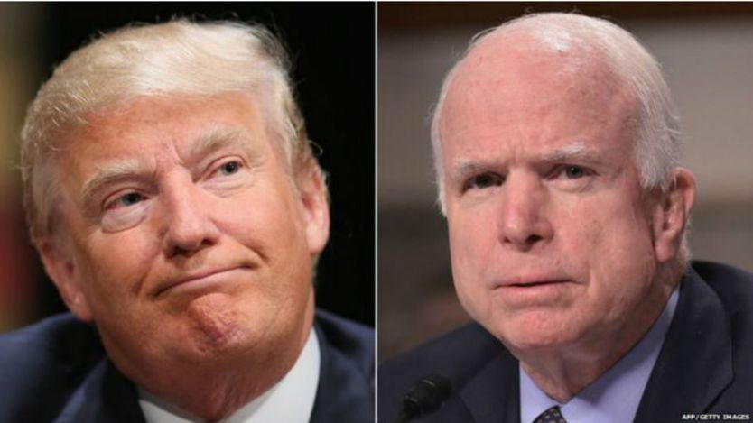 Trump y McCain