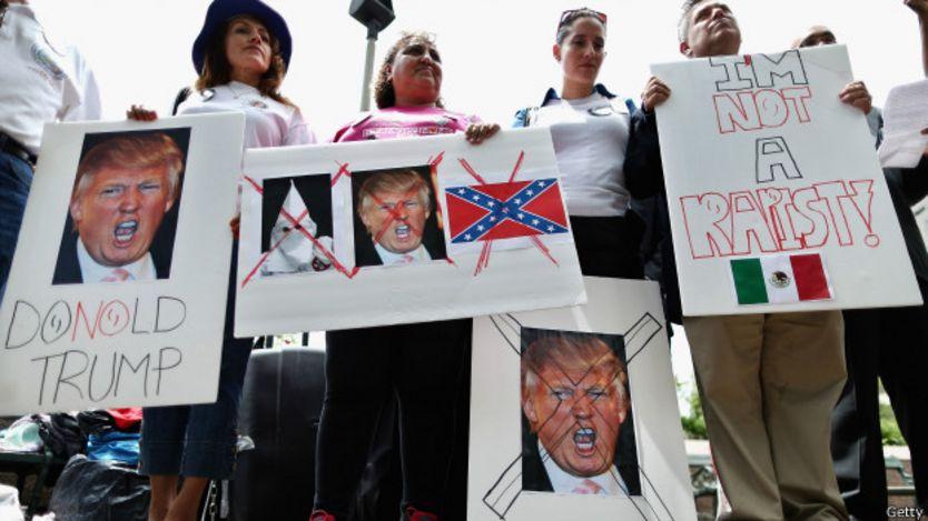 Protesta en contra de Donald Trump