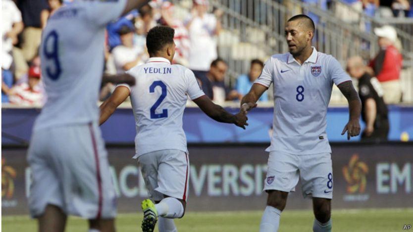 Dempsey celebra su gol ante Panamá