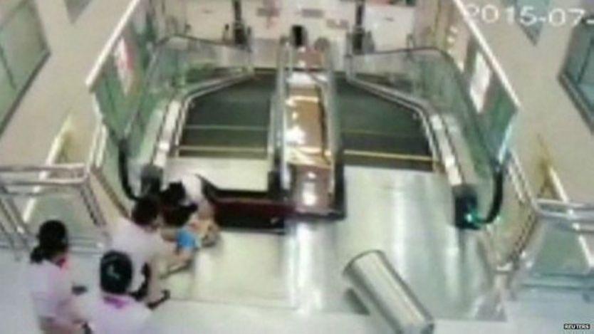 Acciente en el centro comercial de China