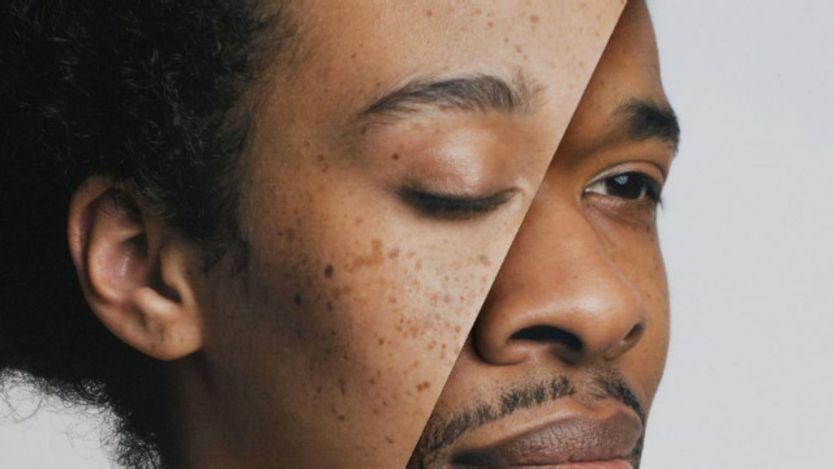 Montaje del rostro de un hombre y una mujer