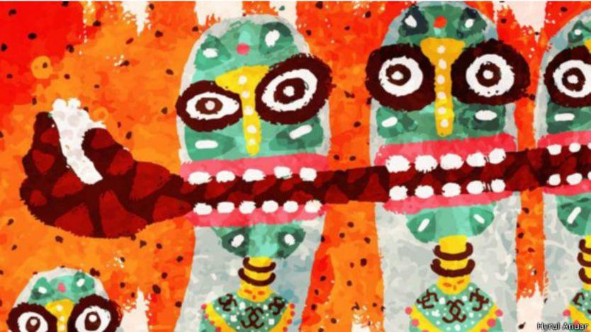 馬來西亞雪蘭莪州的藝術家海茹·安努阿(Hyrul Anuar)的作品
