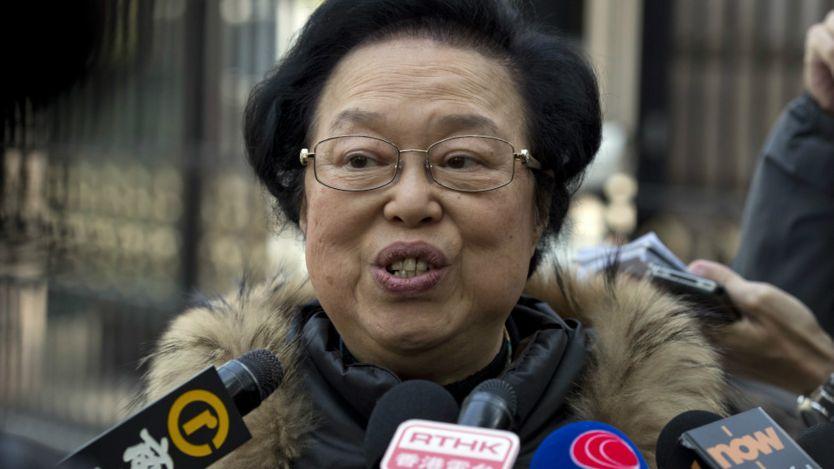 谭惠珠在北京向香港记者讲话(5/11/2016)