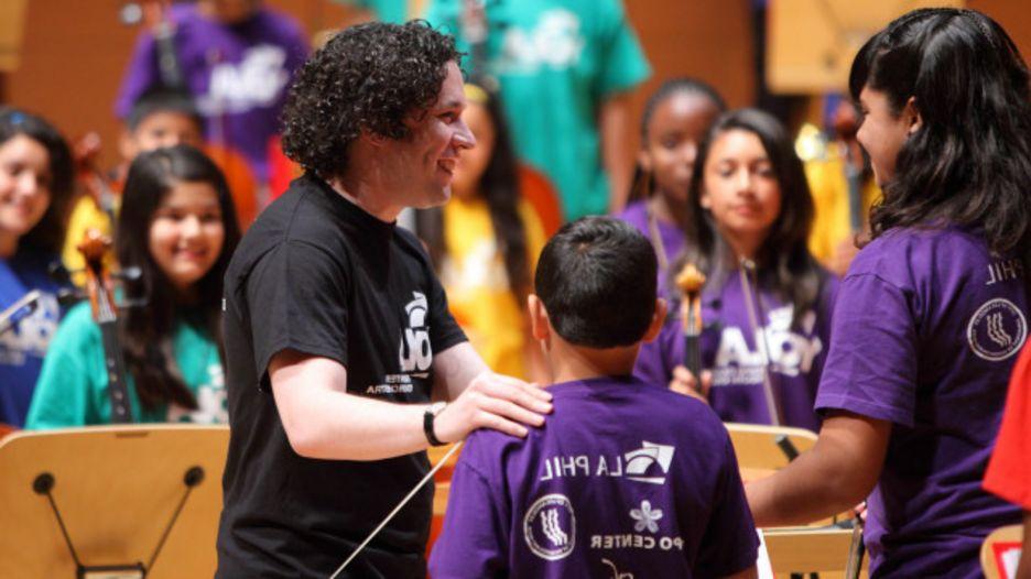 Gustavo Dudamel con la Orquesta Juvenil de Los Ángeles