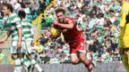 Andrew Considine celebrates scoring for Aberdeen against Celtic