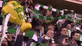 Hibs fans in full voice at Easter Road