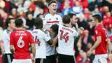 Fulham celebrate Scott Malone's goal