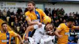 Newport's Paul Bignott in action against Mansfield