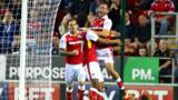 Rotherham celebrate Jon Taylor's first-half goal against Nottingham Forest