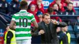 Moussa Dembele and Brendan Rodgers