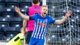 Rory McKenzie celebrates his opening goal for Kilmarnock