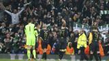 Celtic celebrate at full-time