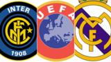 Inter, UEFA & Real Madrid logos