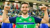 A delighted Will Grigg after his goalscoring performance in the 3-0 win over Belarus on Friday night
