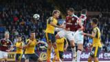 Action from Burnley v Arsenal in October 2016