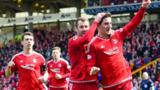 Aberdeen are guaranteed second place in the Premiership with a win