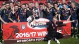 Arbroath celebrate winning Scottish League Two
