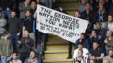 Newcastle fans shows their support for Benitez
