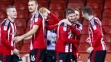 Sheffield United celebrate Kieron Freeman's goal