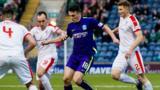 Raith Rovers and Hibernian players