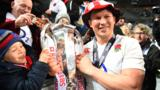 England captain Dylan Hartley celebrates winning the 2016 Six Nations