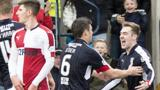 Dundee celebrate against Rangers