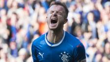 Andy Halliday celebrates scoring for Rangers against Partick Thistle