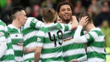 Celtic celebrate Colin Kazim-Richards' goal