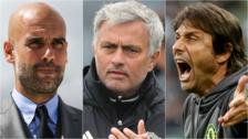 Pep Guardiola, Jose Mourinho and Antonio Conte