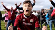 Northampton fans celebrate