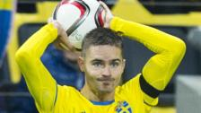 Celtic's Mikael Lustig in action for Sweden