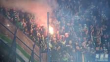 Celtic fans in the Sukru Saracoglu Stadium