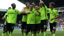 Brighton celebrate Bobby Zamora's goal