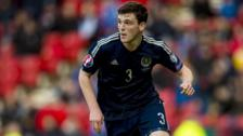 Andy Robertson playing for Scotland