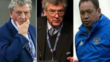 Roy Hodgson, Angel Villar Llona and Leonid Slutsky