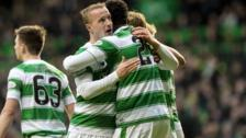 Celtic goalscorers Leigh Griffiths and Dedryk Boyata