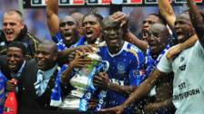 Portsmouth parade the FA Cup in 2008