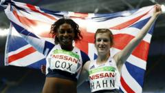 Paralympic medallists Kadeena Cox and Sophie Hahn