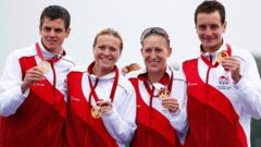 England Commonwealth triathlon team