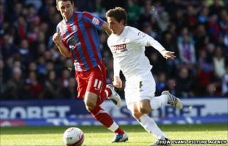 Joe Allen takes on Crystal Palace