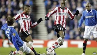 The singing occurred during Rangers' match against PSV Eindhoven