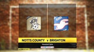 Highlights - Notts County 1-1 Brighton